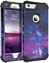BENTOBEN Case for iPhone 6S Plus/iPhone 6 Plus, 3 in 1 Hybrid Heavy Duty Rugged Hard PC Cover Soft Silicone Bumper Shockproof Anti Slip Protective Case for Apple iPhone 6S Plus/6 Plus(5.5 Inch),Space
