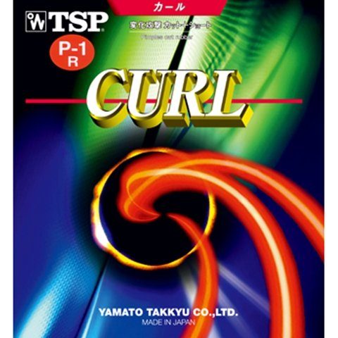 TSP Curl P1R / P1-R/P-1-R - Long Pips Table Tennis Rubber – Red 1.4mm-1.7mm