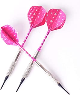 N /A Soft Darts 3Pcs of Professional Darts 16 Grams of Pink Soft Pip Electronic Darts Needle Aluminum Alloy Tree Beautiful Darts Indoor Outdoor Sports Game