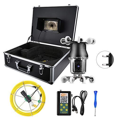 BTIHCEUOT Untergrundkamera, 7-Zoll-TFT-LCD-Farbdisplay, 360 ° -Weitwinkel-Endoskop mit 164-Fuß-Kabel für die Inspektion von Abwasserrohren(EU-Stecker)