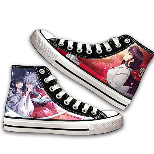 JPTYJ Inuyasha Sesshoumaru Alpargatas para Hombre Anime High Top Canvas Shoes Sneakers Trainers Cosplay Botines para Hombres Mujeres A-37