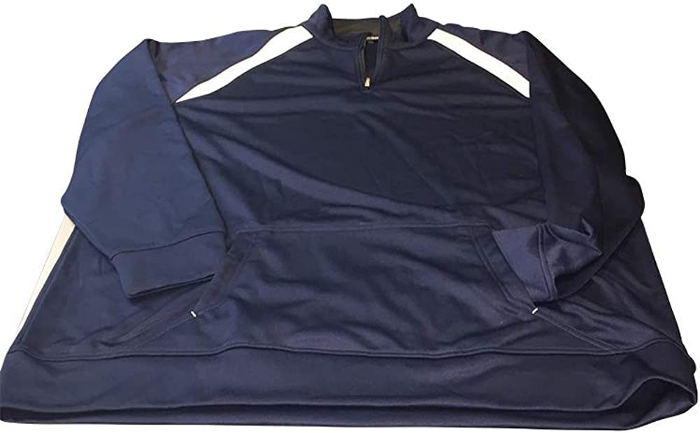 StoutMensShop Big and Tall Quarter Zip Contrast Fleece