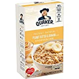 Quaker Instant Oatmeal, Peanut Butter & Banana, Individual Packets, 9.3 Oz, Pack of 6