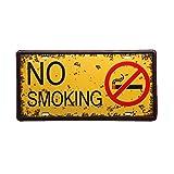 Cartel de Metal, No Fumar, Señales, Barra, Hogar, Restaurante, Pared, Placa