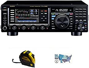 Bundle - 3 Items - Includes Yaesu FT-DX3000 HF Contest Radio, 100W HF/50MHZ with The New Radiowavz Antenna Tape (2m - 30m) and HAM Guides Quick Reference Card