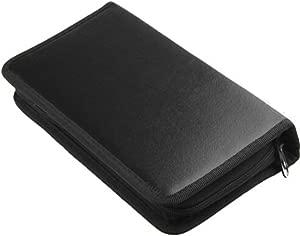 80Pcs Dvd Vcd Discs Storage Wallet Organizer Bag Black Holder