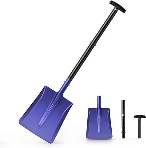 """2021 Snow Shovel with Aluminum Blade, 38-Inch Lightweight and Dismountable Sport/Garden Utility Shovel, Suitable for Car or new arrival Truck Storage (9.5"""" popular Blade) online"""