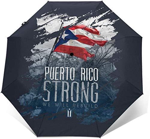 Puerto Rico - Paraguas de tres pliegues automáticos fuertes