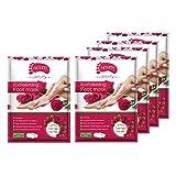 Harilla Paquete de 5 Mascarillas Exfoliantes para Pies Que Eliminan La Mascarilla Exfoliante para Pieles Duras Y Muertas