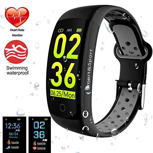 feifuns Fitness Tracker Watch, Smart Bracelet IP68 Waterproof Swim Watch Activity Tracker with Heart Rate Step Calories Counter Sleep Pedometer Watch for Men Women Kids/Android iOS