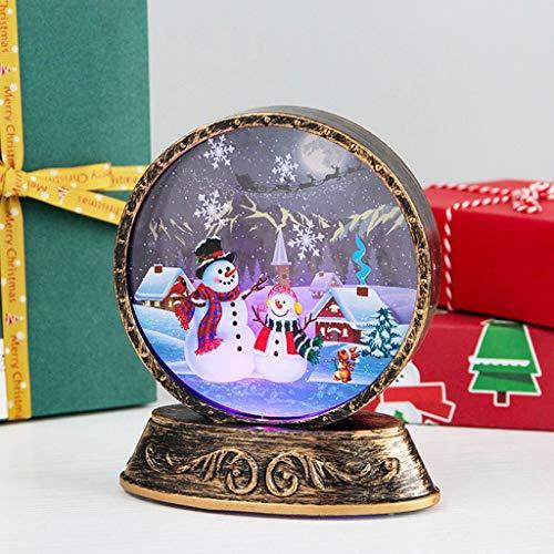 Amphia Weihnachtsdekoration Windlichter Alter Mann Schneemann Nachtlichter LED Lichter, Weihnachtsalter Mann-Schneemann-Nachtlicht-Szenen-Plan-Stützen-Nachtdekoration