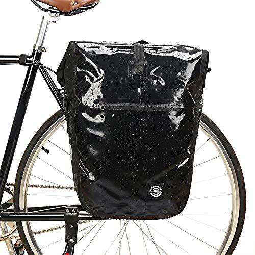 Sawpy Bike Rear Rack Pannier Pouch - MTB Bicicleta de Carretera Bolsa Impermeable Bolsa de Asiento Trasero de Ciclismo Bolsa de Gran Capacidad para Maletero Accesorios para Bicicletas