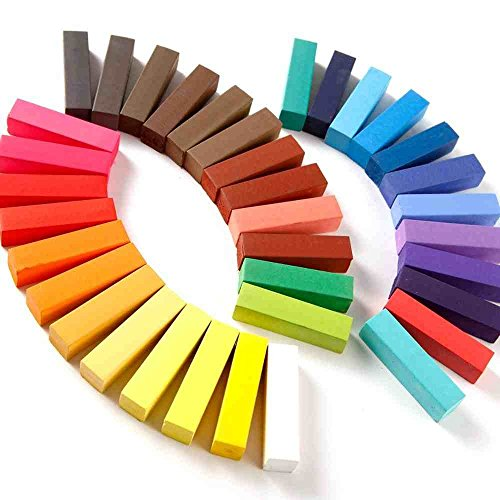 36 Colori di gesso per capelli, tinte temporanee per capelli, 36 tonalità brillanti by RIVENBERT