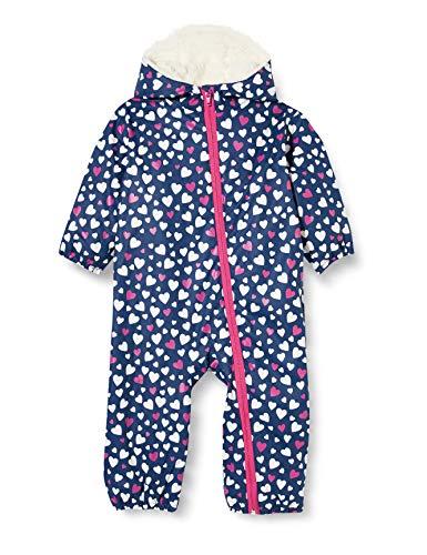 Hatley Baby-Mädchen Printed Bundler Schneeanzug, Farbwechsel Konfetti Herzen, 12-18 Monate