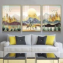 HEZHANG Malarstwo dekoracyjne, nowoczesny minimalistyczny salon tło dekoracja ścienna mural ganek restauracja kryształ por...