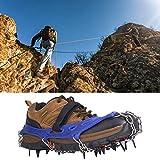 Natruss Puños de Zapatos antioxidantes Spikes Funda para Zapatos de esquí, 1 par de crampones de Cala de Hielo de Alta Resistencia, Escalada Antideslizante para Senderismo(Blue)