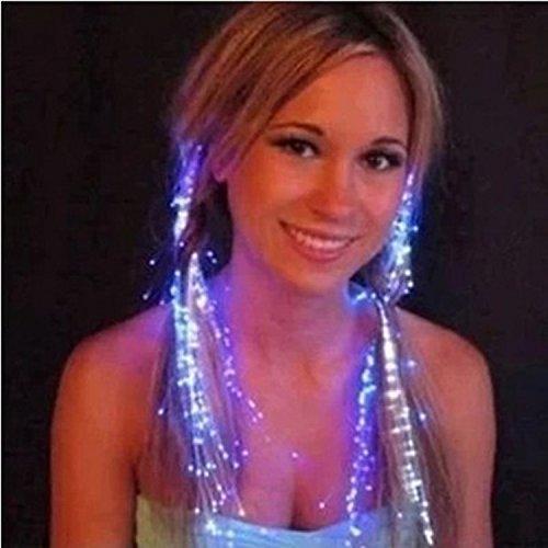 Scrox 10 PCS LED blinkende Haar helle Haarverlängerungen Faser optische Haar LED Braid Bunte glänzende Haarschmuck LED Haarspangen Leuchten für Weihnachten halloweens Party Festival Decor