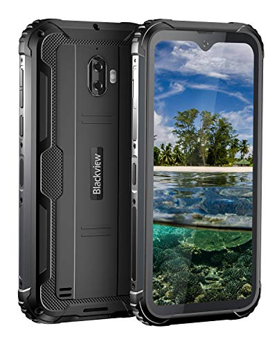 Blackview BV5900 、アウトドア スマートフォン 本体、防水スマホ 、防塵スマホ、 耐衝撃スマホ 、 4G スマホ 本体 、SIMフリースマートフォン本体 、Android 9.0 、5.7インチ、しずくスクリーン 、1300万画素+500万画素、3GB RAM+32GB ROM、 5580mAh 、タフスマホ 、携帯電話 、AU対応不可 、技適認証済み、1年間保証付き(ブラック)