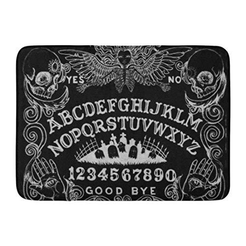 TEIJWET Badematte Spirit Witch Board Schwarz Gothic Gothic Gothic Okkult Hexerei Badezimmer Dekor Teppich 50,8 x 81,3 cm