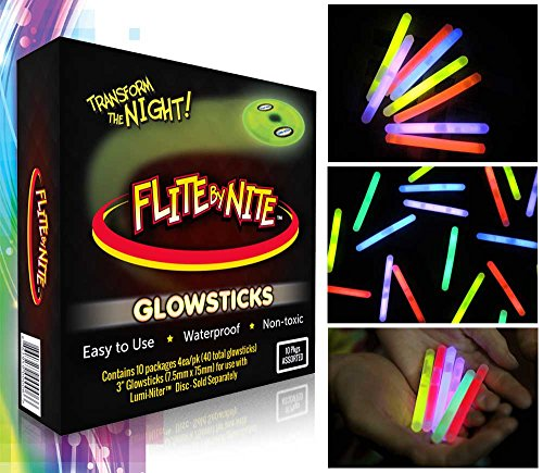 Flite by Nite Glow Stick Refills, Assorted Colors