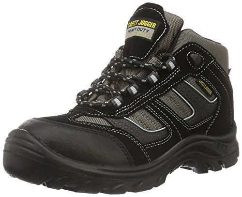 Safety Jogger CLIMBER, Unisex - Erwachsene Arbeits & Sicherheitsschuhe S3, schwarz, (blk/blk/dgr 117), EU 43