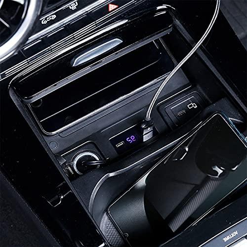 caricatore wireless w177 HAZYJT Qi 15w Caricatore Wireless Auto Compatibile con Mercedes Benz A-Class W177 Gla 200 Glb Glc 2020 2021tappetino di Ricarica Wireless per Auto Vassoio