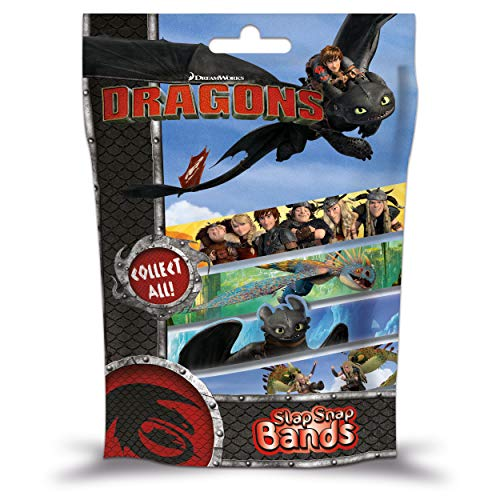 Craze Schnapparmband Slap SNAP Bands Dragons Armband Armreif Kinderschmuck 51819, Buntes Klatscharmband