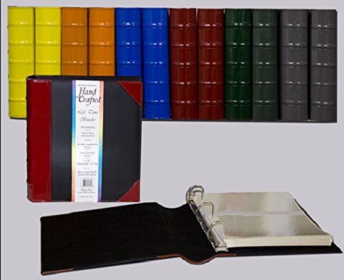 """Executive Binder, English Leather 2 Tone with Stitching and Ribbed Spine, Heavy Duty 1.1/2"""" Inch 3 D-Ring with Buster, Holds 350 8.5""""x 11"""" Sheets (Camel) Photo #2"""