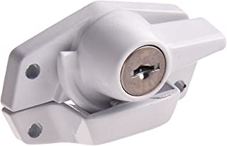 First Watch Security 1404 Window Keyed Sash Lock White Finish,