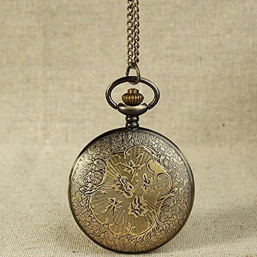 Uhr Vintage Bronze Tone Spider Web Design Kette Anhänger Herren Tasche Uhr Geschenk Reloj De Bolsillo