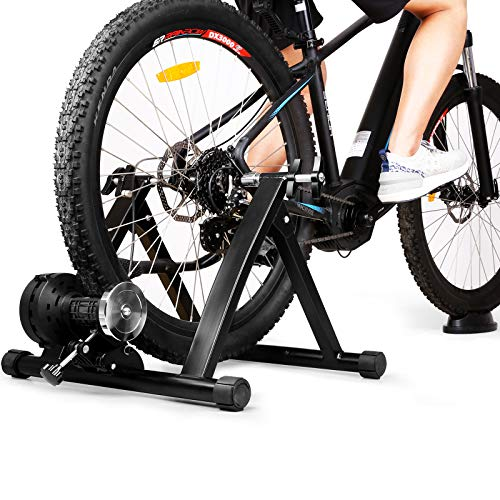 INTEY Bike Trainer Stand Magnetic Bicycle Indoor Exercise Training, 6 Levels Resistance Stationary Cycling Trainer for Fitness and Physical Training