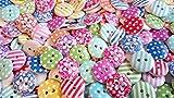Knöpfe für Kinder Knopf HOLZ Kinderknöpfe Bunt Mix Scrapbooking Mischung 11-23 mm zu 100 Stück