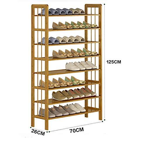 WXQIANG Natur-Schuhregal aus Bambus, staubdicht, für Schlafsaal, Schuhaufbewahrung, Schuhaufbewahrung, Otto-Layer, multifunktional, unabhängiger Shelf 70*26*125cm