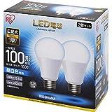 アイリスオーヤマ LED電球 E26 広配光タイプ 100W形相当 昼白色 2個セット LDA14N-G-10T52P