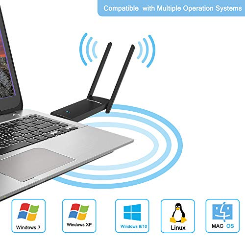 COMFAST Wireless WiFi Adapter 11AC Dual Band 2.4G//5G USB Wireless Adapter Network Card for Desktop and Laptop of Windows 10//8//8.1//7//XP AC1900