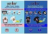 Yorkker Combo pack of PC T-shirt Dark Cotton & LC T-shirt Light Cotton