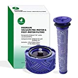 8 Pre-Motor Filter & 2 Post-Motor HEPA Filter kit for Dyson V6 Absolute...