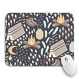 Gaming Mouse Pad Spaß Camping Verschiedene und im Freien einschließlich Lagerfeuer Zelt Wandern rutschfeste Gummi Backing Computer Mousepad für Notebooks Maus Matten
