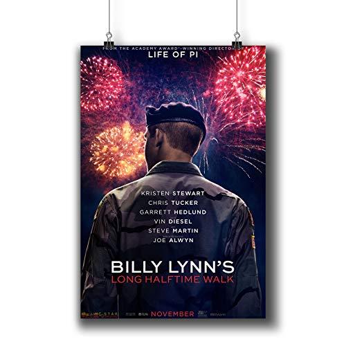 Billy Lynn's Long Halftime Walk (2016) Filmposter, kleine Kunstdrucke 1009–001, Wandkunst, Dekoration für Schlafsaal, Schlafzimmer, Wohnzimmer, A4, 21 x 29 cm