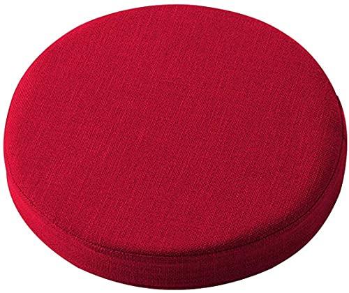 Yoole EU Coussin de chaise rond doux - 40/45/50 cm - Épaisseur : 5/8 cm - Lavable - Pour la maison, le bureau, la terrasse, l'intérieur ou l'extérieur (45 x 45 x 5 cm, rouge)