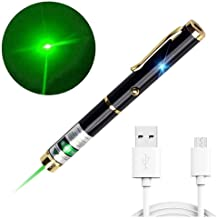 TSONCOLE USB Pointer Pen Rechargeable Laser Toys Interactive for Cats Catch Teasing Scratching Interactive Exercise Training Tool