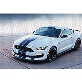 Ford Mustang Puzzle Adulto 1000 Piezas Supercar Rompecabezas clásico Juguetes educativos para aliviar el estrés y los desafíos cerebrales 38x26cm