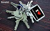 """EXKLUSIV bei uns: Schlüsselanhänger """"I Love Rügen"""" in Schwarz, eine tolle Geschenkidee für deinen Partner, Familie und viele mehr!- Ostergeschenk, Ostern, Partneranhänger, Rucksackanhänger, Taschenanhänger, Liebesanhänger, Ich Liebe Dich, Freunde, Verliebte, Accessoire, Made in GERMANY. - 2"""