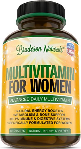 Women's Multivitamin Supplement. Vitamins A C D E & Vitamin B Complex. Immune & Female Support + Antioxidant & Natural Energizers. Non-GMO, Gluten Free, Made in the USA,60 Caps