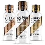 Kitu Super Coffee, Iced Keto Coffee (0g Added Sugar, 10g Protein, 70 Calories) [Variety Pack] 12 Fl Oz, 6 Pack | Iced Coffee, Protein Coffee, Coffee Drinks, Smart Coffee - SoyFree GlutenFree