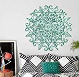 Ajcwhml Mandala Creativa Flor marroquí Pegatina de Pared India decoración del hogar Mural Arte Sala de Estar Vinilo Arte Pared pegatina-57X57CM-57X57CM