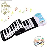 Portable Piano Keyboard Roll Up Piano Foldable Kids Practice 37 Keys Electronic Built-in