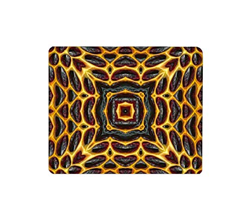 Mouse Pad Rectangular Mouse Mat Cute Mouse Pad with Design Non Slip Rubber Base Mousepad with Stitched 3d symmetric honeycomb