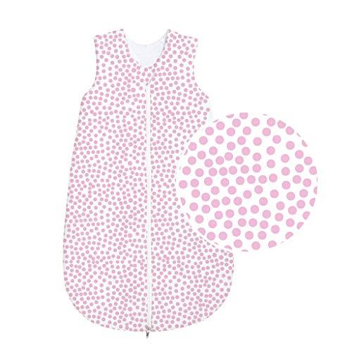 Odenwälder BabyNice Jersey Schlafsack 4 Jahreszeiten Schlafsack // 4 SEASONS Schlafsack wattiert 130 cm 3-6 Jahre // HiP rose
