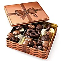 Chocolate Gift Basket , Gourmet Snack Food Box in Keepsake Tin, Great for Birthday, Sympathy, Family Parties & Get Well - Bonnie & Pop from Bonnie and Pop